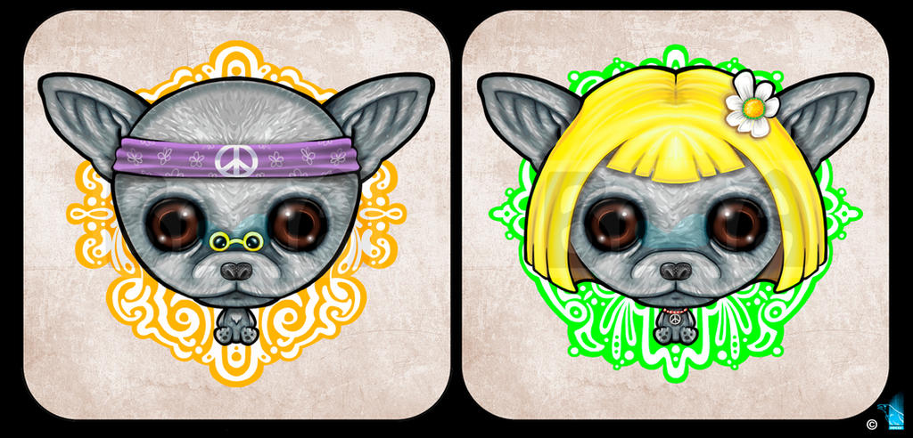 The Hippie Chihuahua by BrainBlueArts
