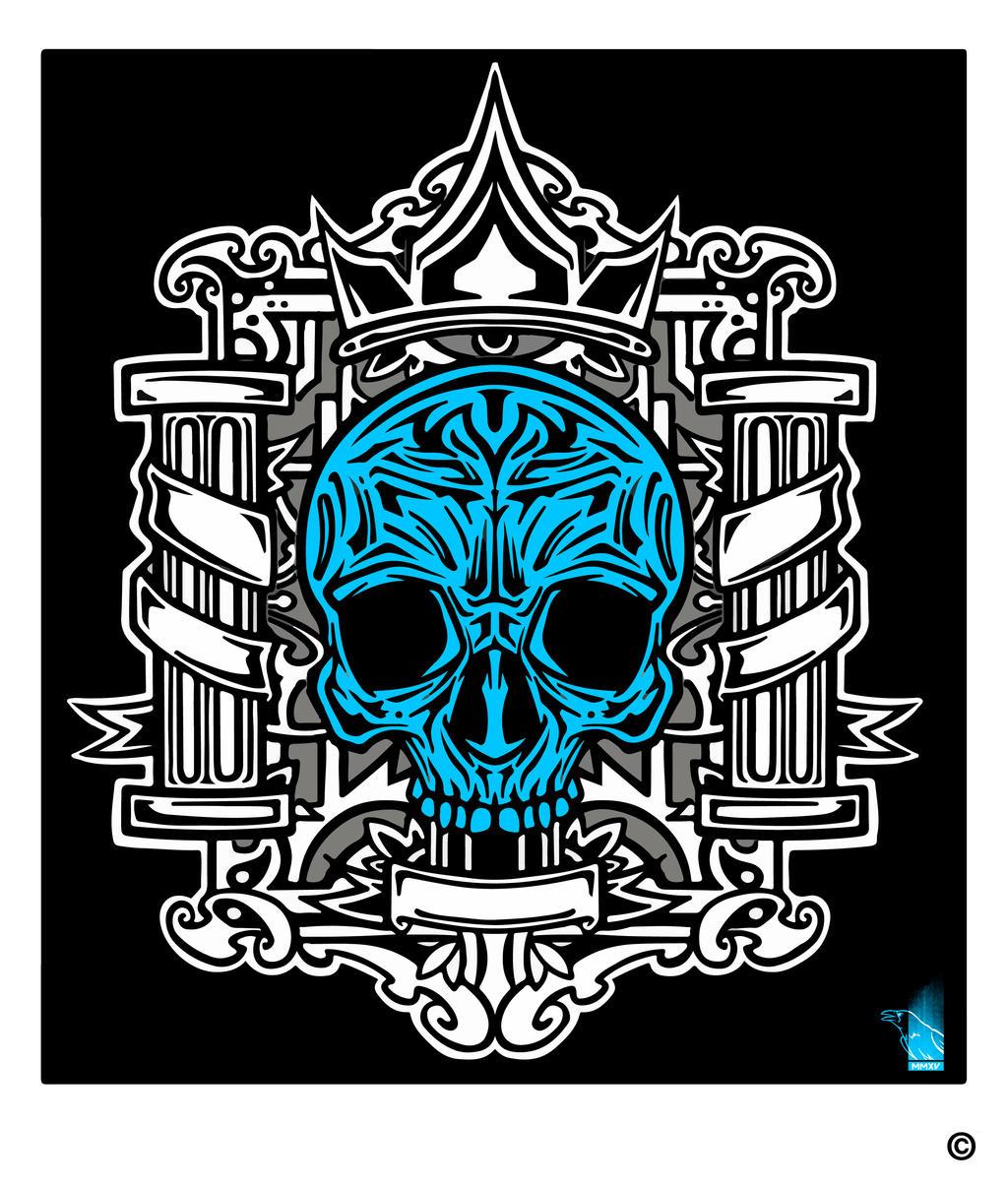 Craneo Azul by BrainBlueArts