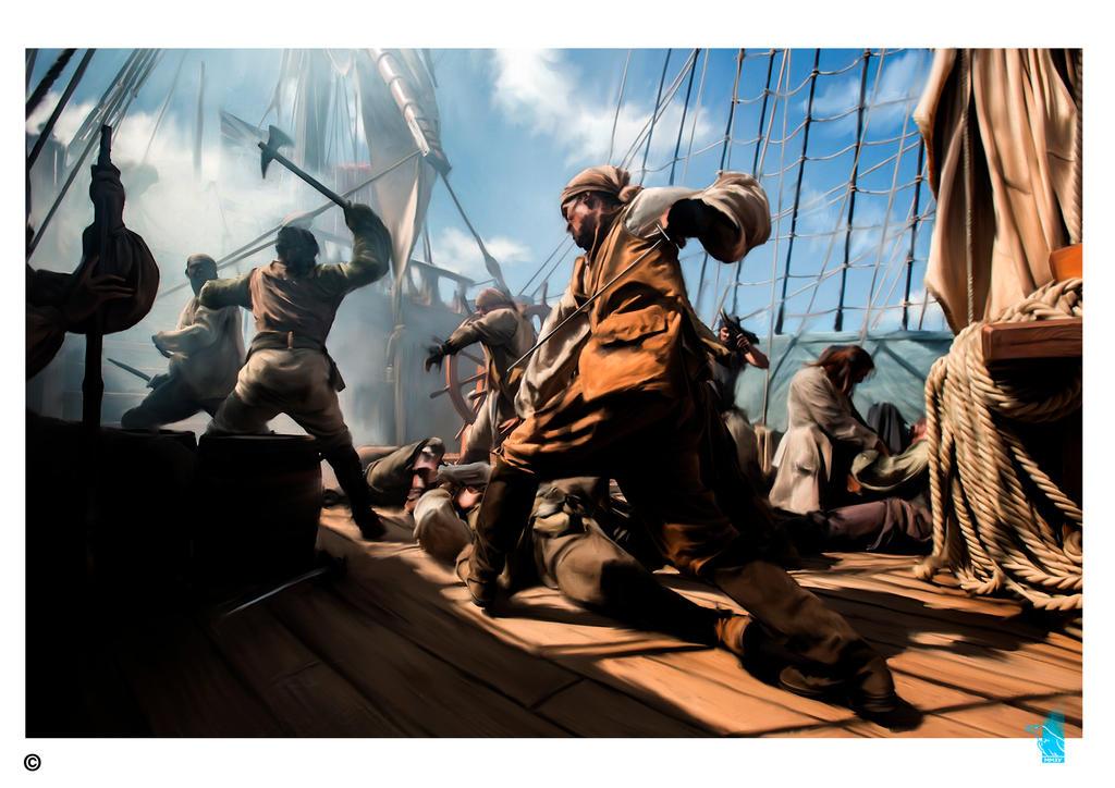 Pirates more Rum more bones by BrainBlueArts