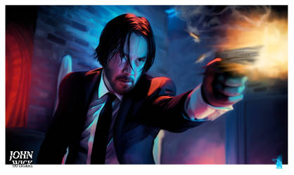 John Wick by BrainBlueArts