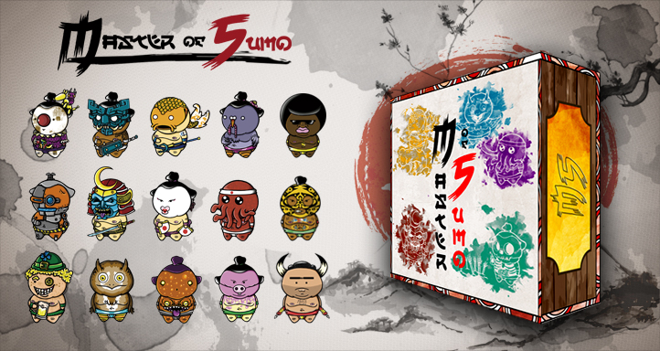 MASTER OF SUMO BOARD GAME by BrainBlueArts