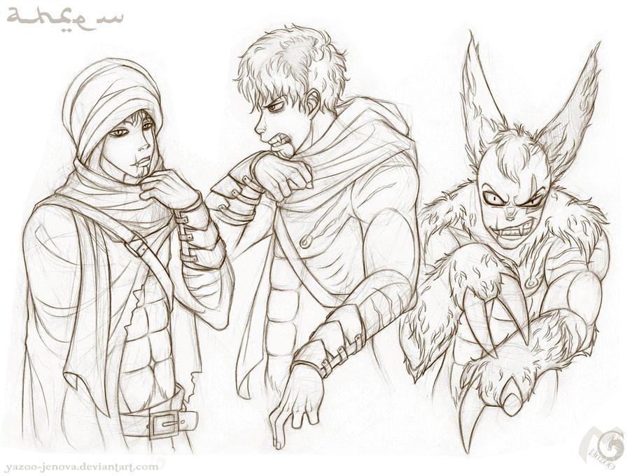 Pokehumon Chronicles - Ahren by Icarus-Skollsun