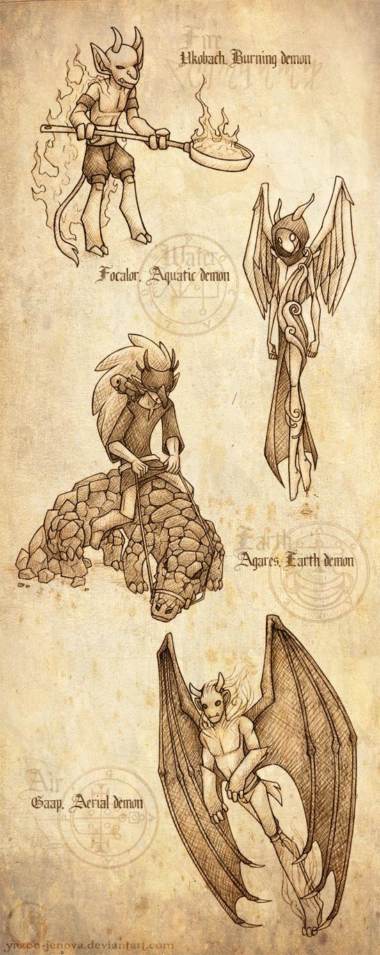 Elemental Demons - Part 2 by Icarus-Skollsun