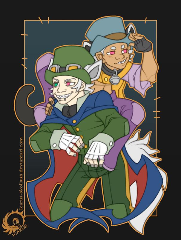 Ikki and Gaki as Honest John and Gideon by Icarus-Skollsun