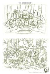Kernoons: The Stone Vigils - The Village by Icarus-Skollsun