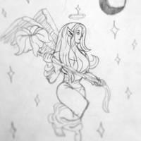 Random fairy from a temporary tattoo by Blabbercat