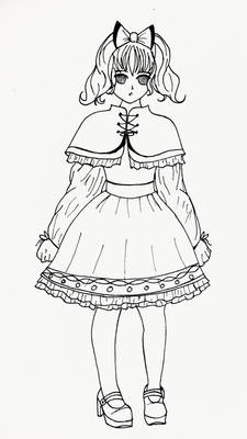 Lolita Fashion Inspired Sketch