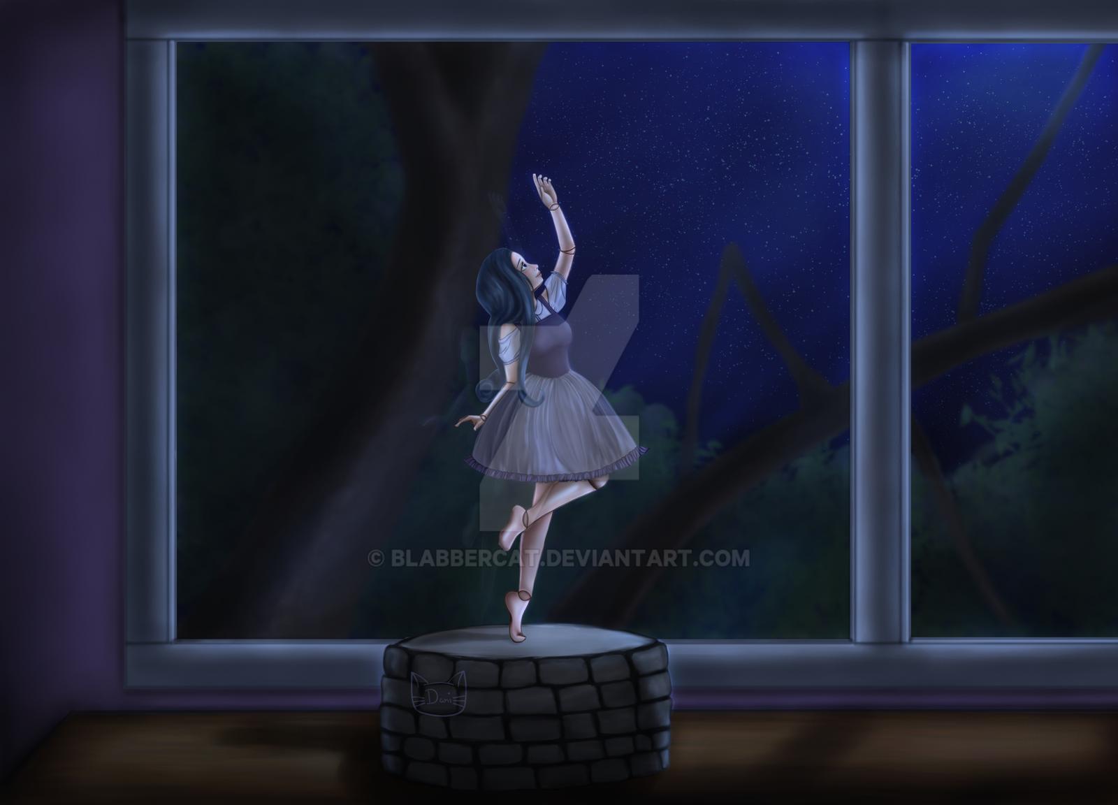 Doll in Moonlight by Blabbercat