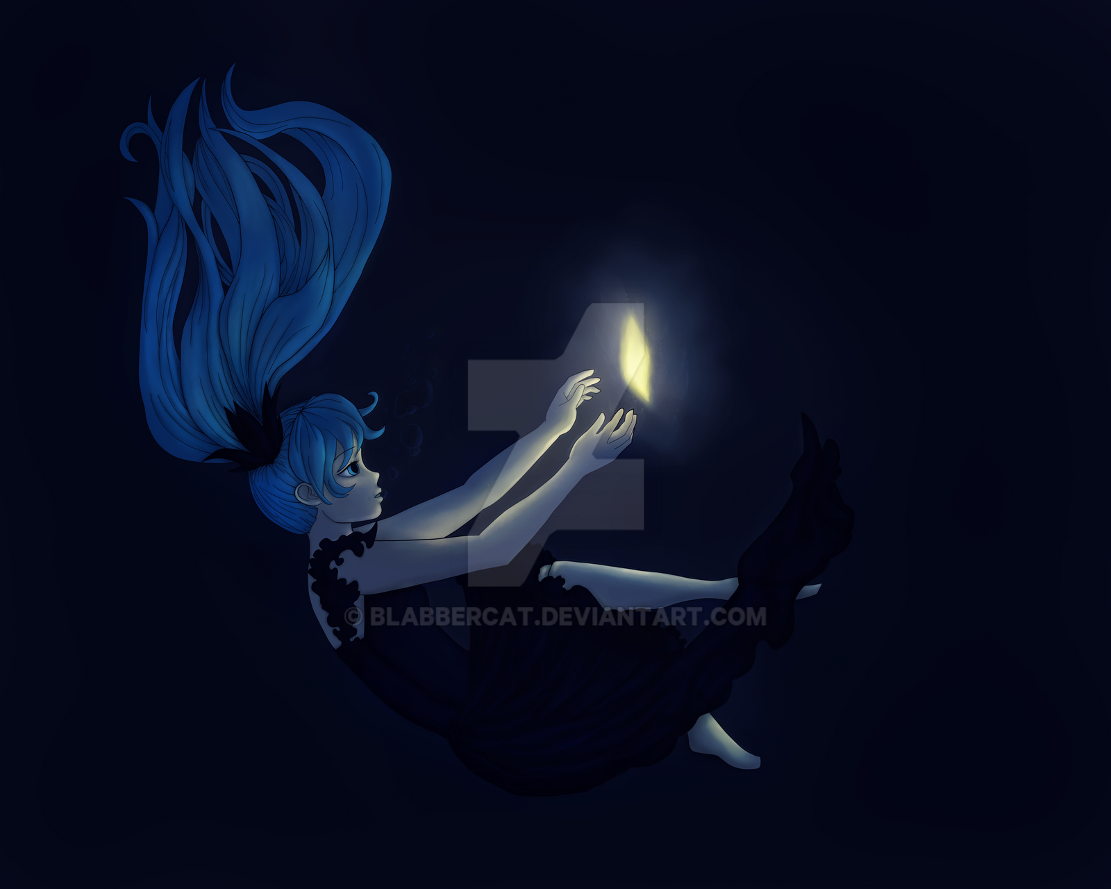 Deep Sea Girl Fan Art by Blabbercat