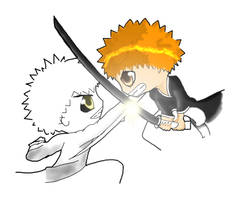 Ichigo VS Hollow Ichigo by Ninja-Shark