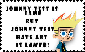 Johnny Test hate art stamp
