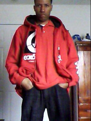 Kevin L. Clay, Jr. wearing Marc Eck red fleece jac by Chris-MJF-Fan23