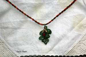 Leaf Necklace by Miskwaadesi