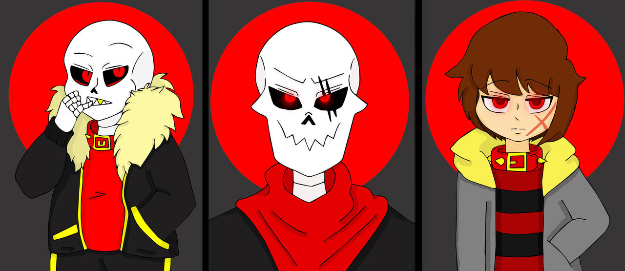 The Boss and His Hounds - Underfell Trio by TaynahIbanez on DeviantArt
