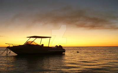 Sunset on Mauritius by oliverlauta