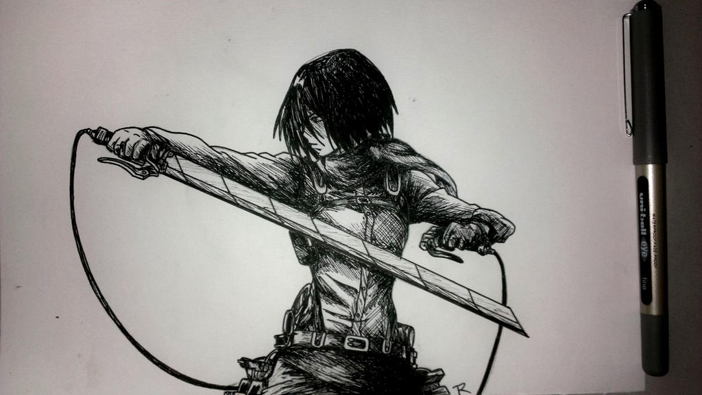 Mikasa ackerman shingeki no kyojin by eatingcherriesalive