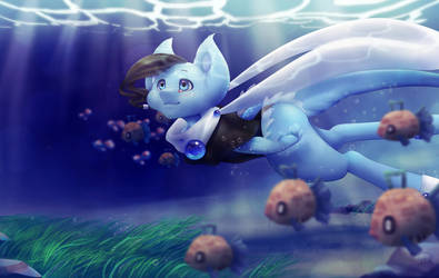 [ Pokemon OC ] Into the Water with Viene by FandomKisses