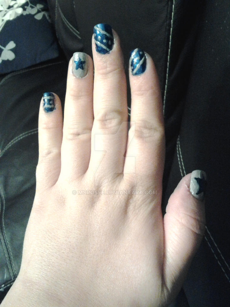 Dallas Cowboys Nail Art by MsRoseE on DeviantArt