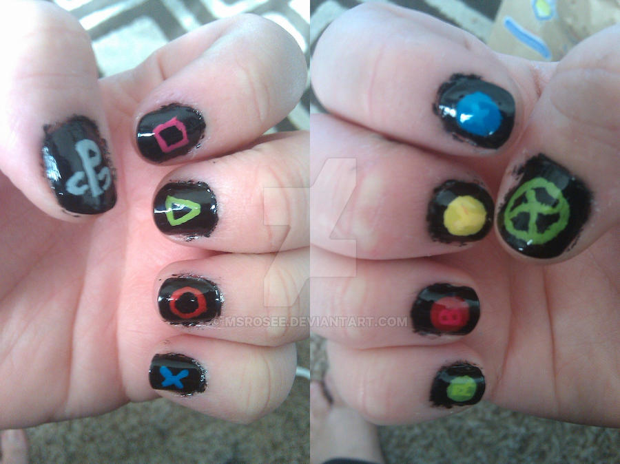 Gamer Nail Art by MsRoseE on DeviantArt