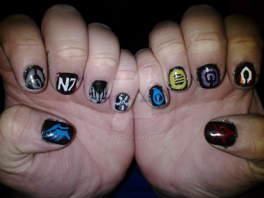 Mass Effect Symbols Nail Art By Msrosee On Deviantart