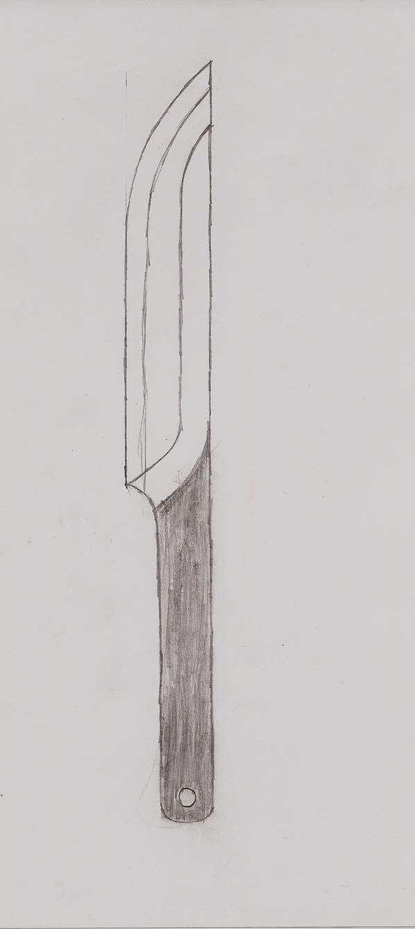 Line Drawing Knife : Another knife drawing by tofu sama on deviantart