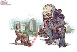 Cat Play With Predator by KonstantinBratishko