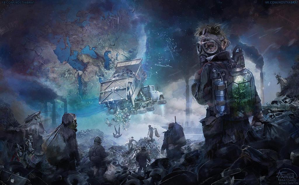 global ecocatastrophe of the future by KonstantinBratishko