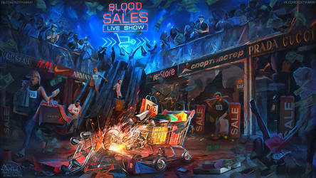 BLOOD SALES reality show. my new art