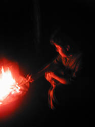 Torin by the fire