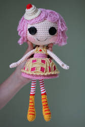 LALALOOPSY Cherry Crisp Crust Amigurumi Doll by Npantz22