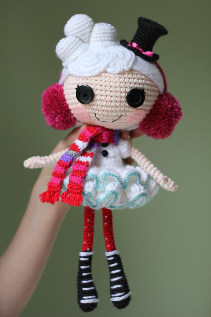 Amigurumi Doll How To : Lalaloopsy winter snowflake crochet amigurumi doll by