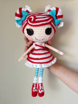 LALALOOPSY Mint E Stripe Crochet Amigurumi Doll