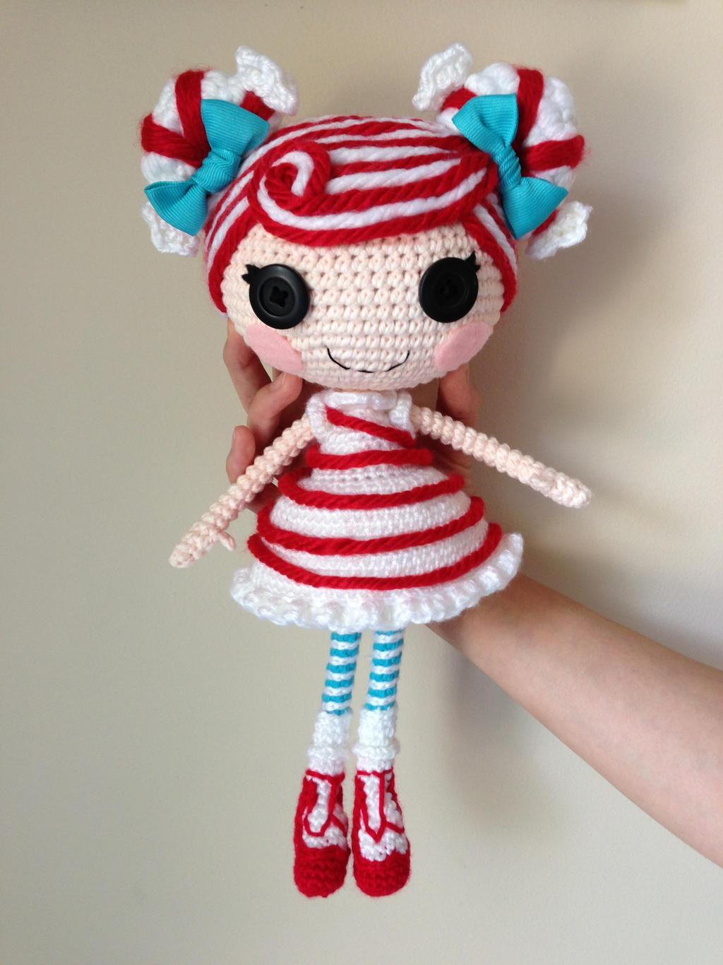 Amigurumi Stripes Tutorial : LALALOOPSY Mint E Stripe Crochet Amigurumi Doll by ...