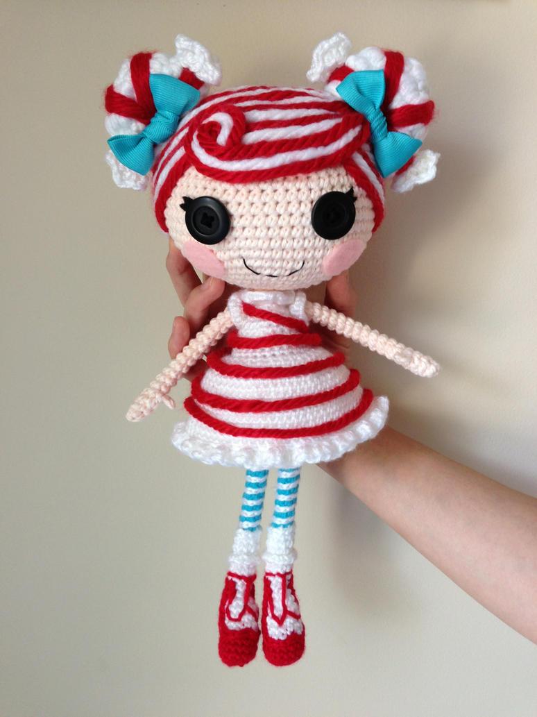 Sock Monkey Amigurumi Pattern : LALALOOPSY Mint E Stripe Crochet Amigurumi Doll by ...