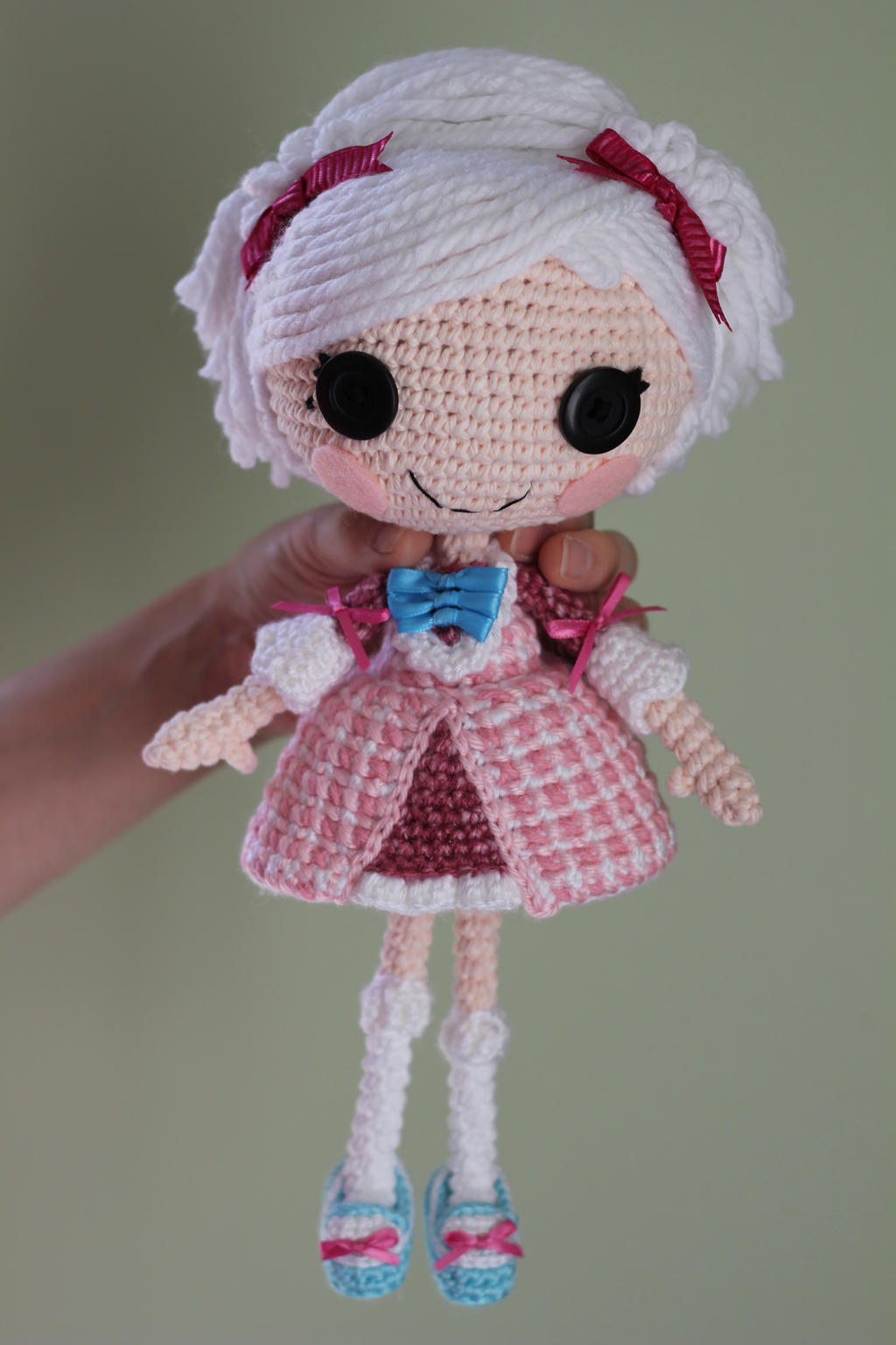 Amigurumi Doll How To : Lalaloopsy suzette la sweet crochet amigurumi doll by