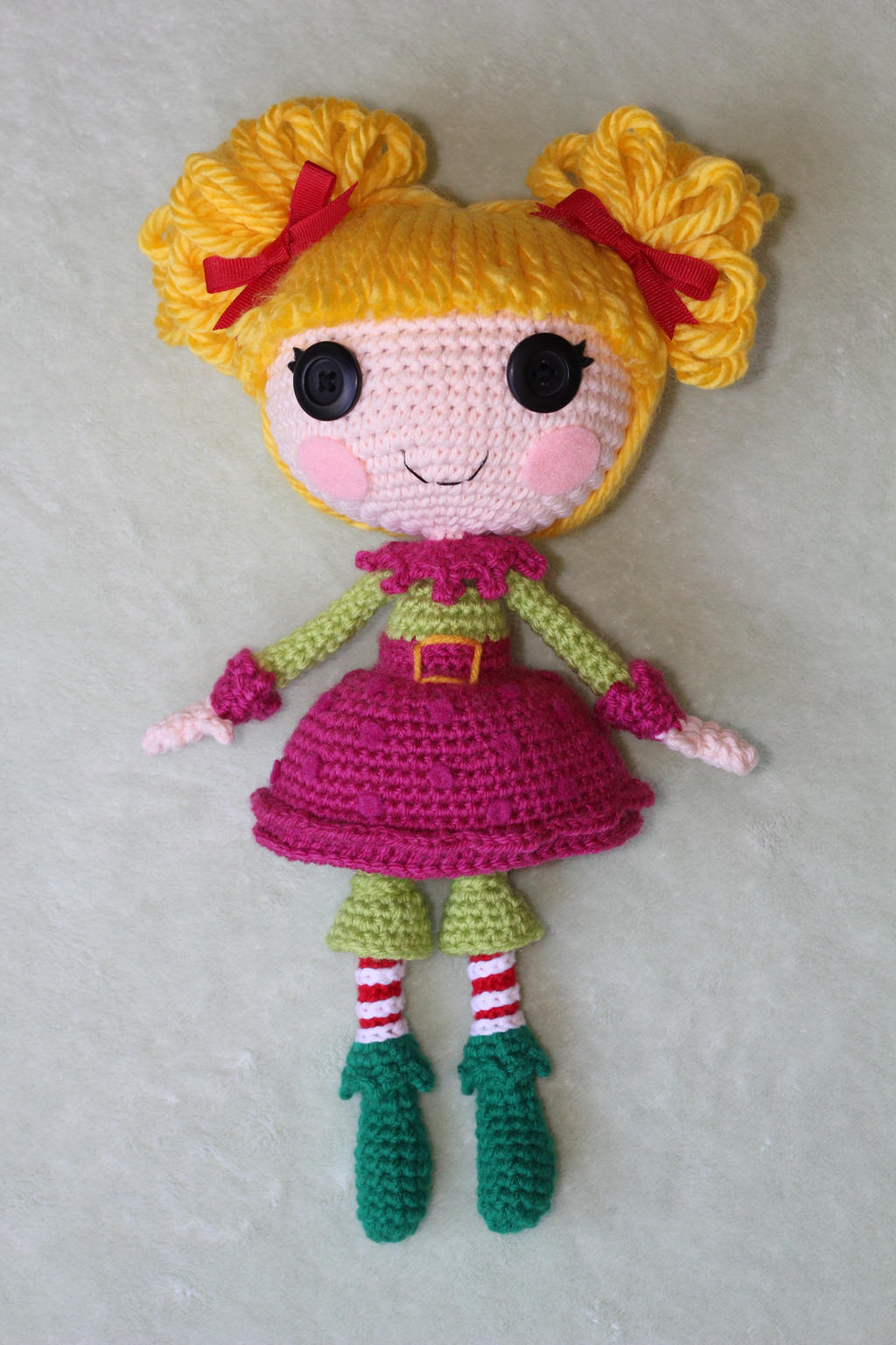 Sock Monkey Amigurumi Pattern : LALALOOPSY Holly Sleighbells Amigurumi Doll by Npantz22 on ...