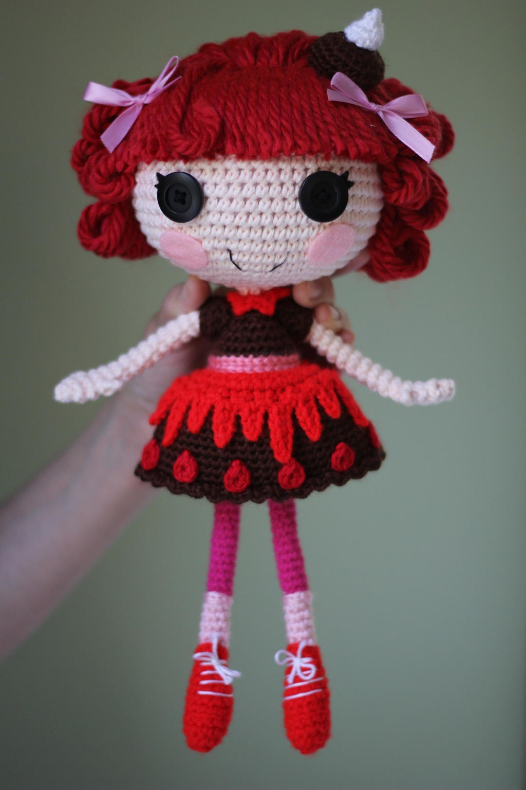Crochet Hair Doll : LALALOOPSY Choco Whirl Swirl Amigurumi Doll by Npantz22 on DeviantArt