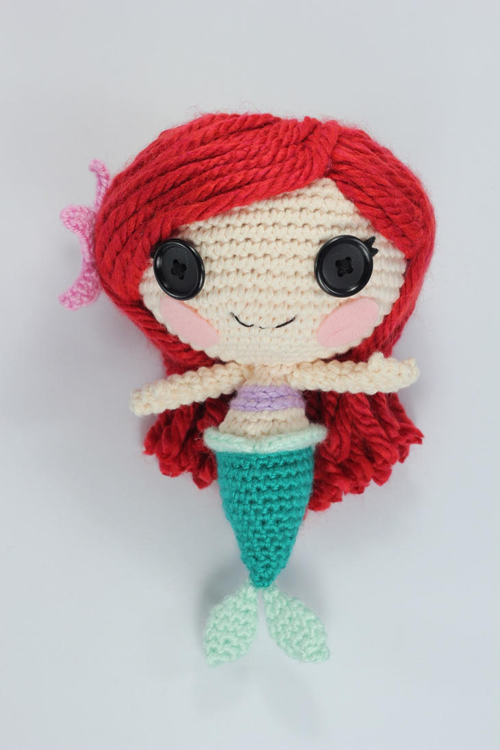 Sock Monkey Amigurumi Pattern : LALALOOPSY LITTLE Custom Ariel Amigurumi Doll by Npantz22 ...