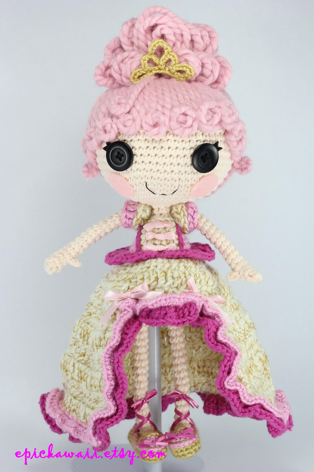 Amigurumi Hair Patterns : LALALOOPSY Goldie Luxe Crochet Amigurumi Doll by Npantz22 ...