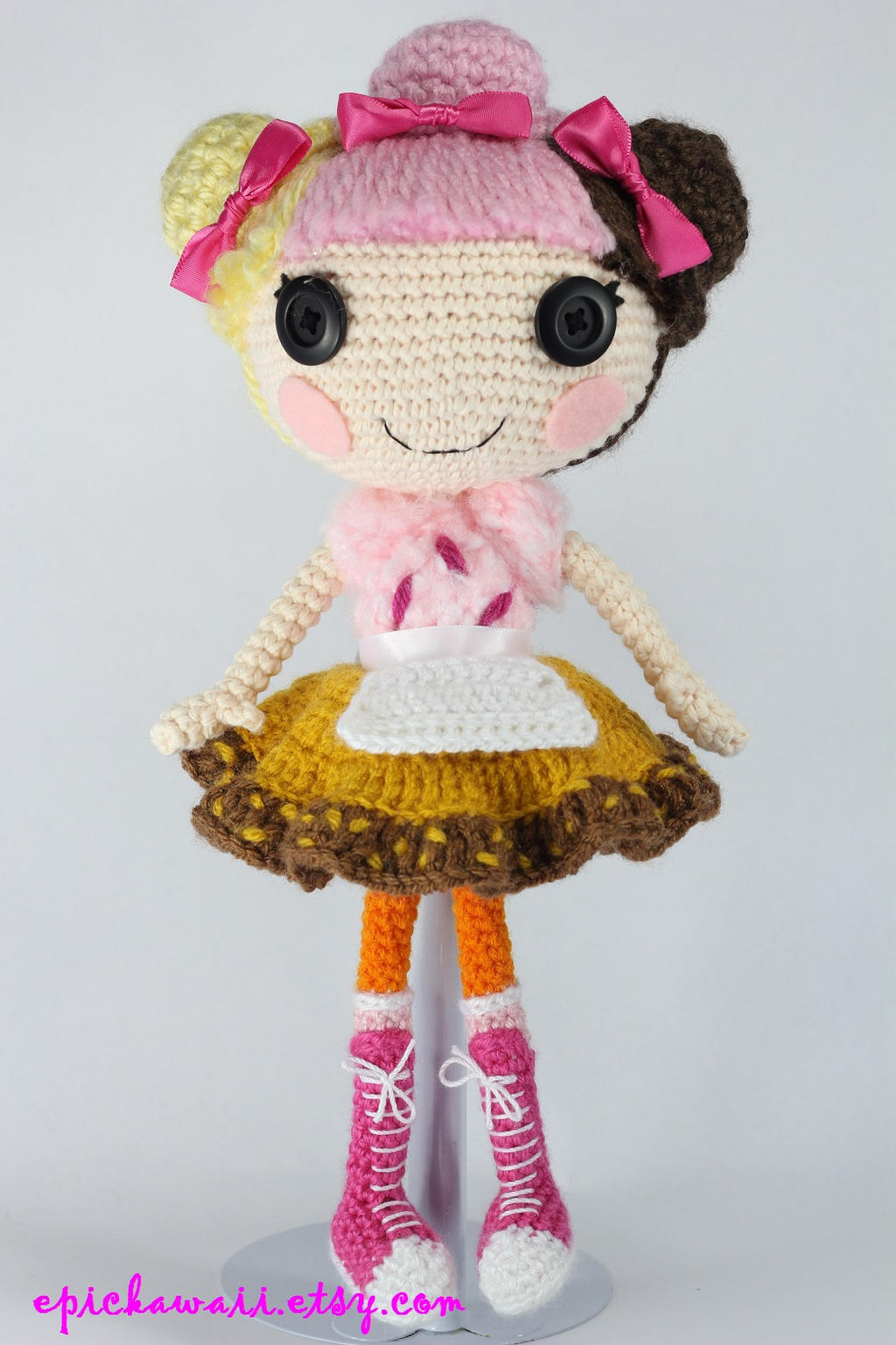 Amigurumi Klesik Doll : LALALOOPSY Scoops Waffle Cone Amigurumi Doll by Npantz22 ...