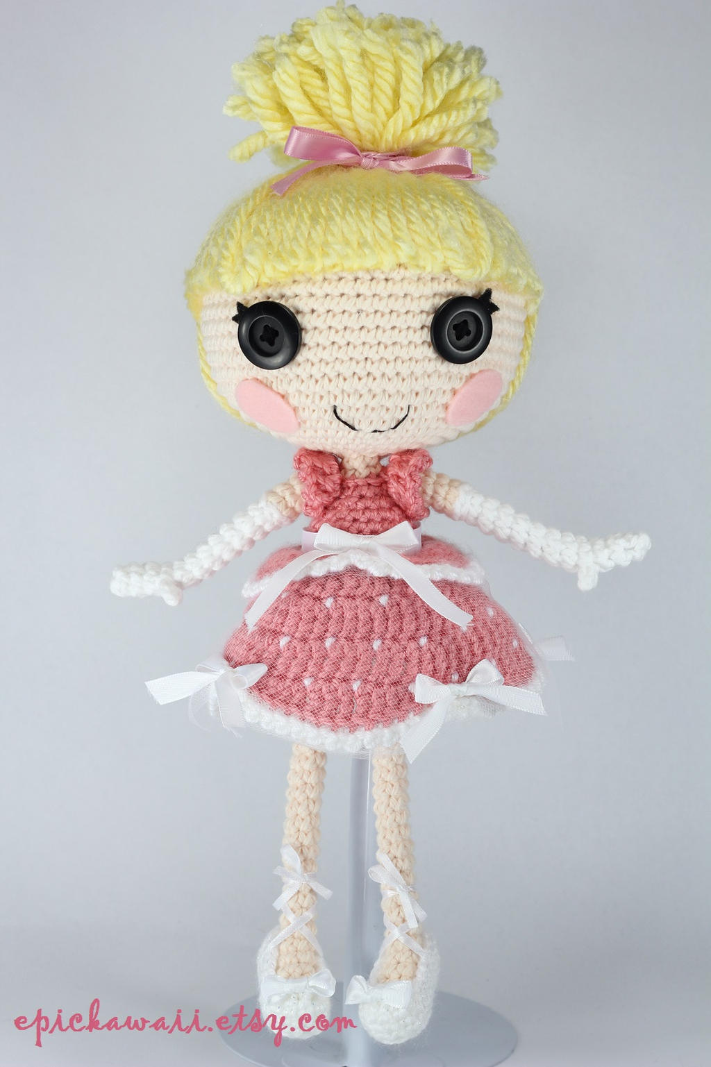 Amigurumi Doll How To : Lalaloopsy cinder slippers crochet amigurumi doll by
