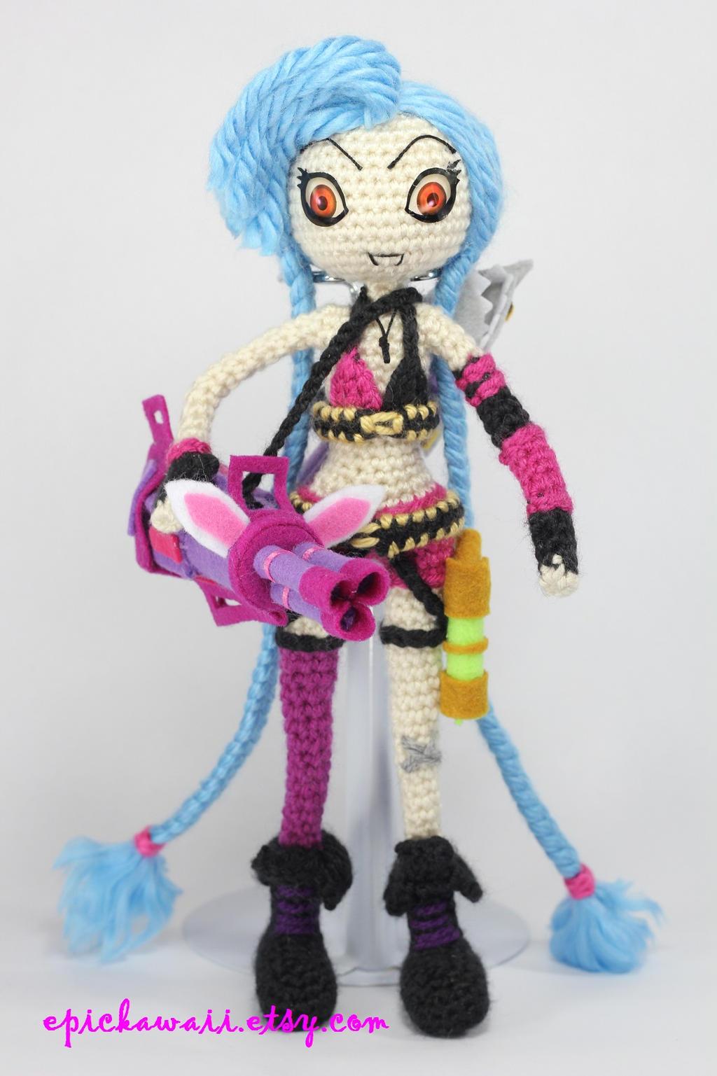 JINX from League of Legends Crochet Amigurumi Doll by ...