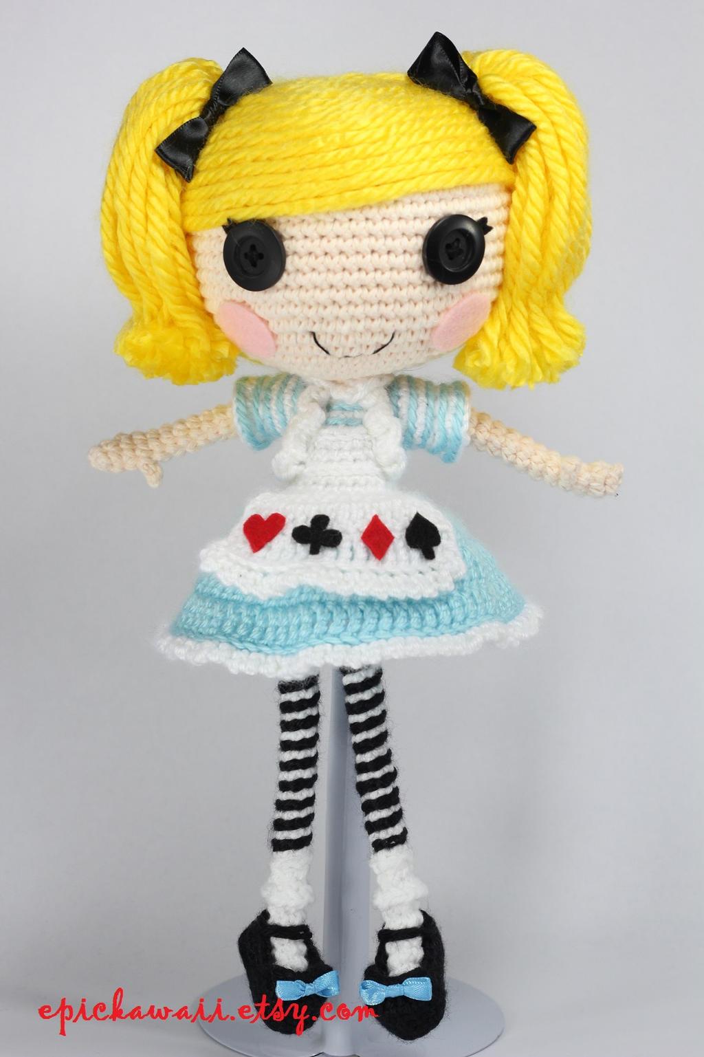 Lalaloopsy Amigurumi Tutorial : LALALOOPSY Alice in Lalaloopsyland Amigurumi Doll by ...