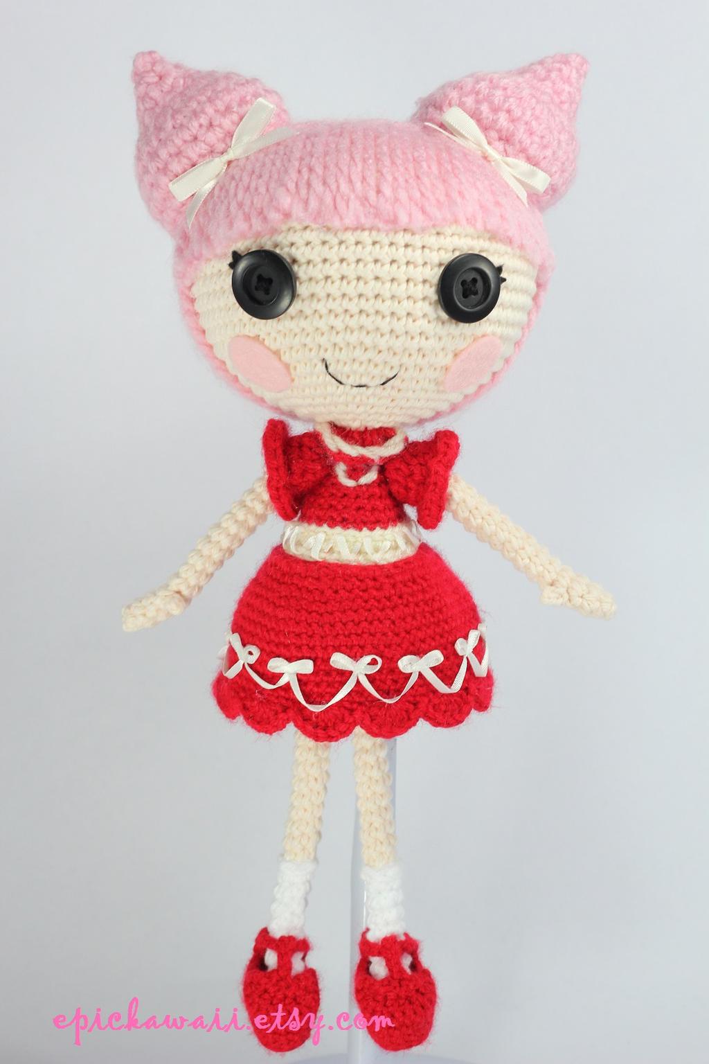 Lalaloopsy Amigurumi Tutorial : LALALOOPSY Velvet B Mine Crochet Amigurumi Doll by ...