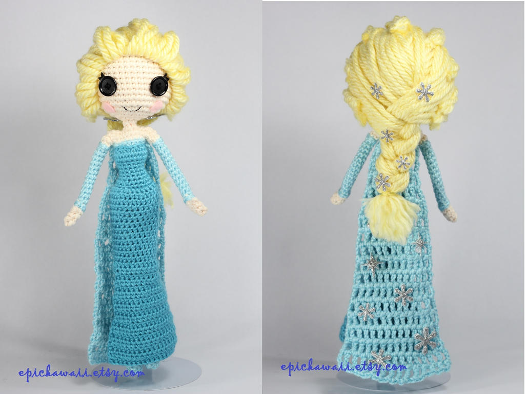 Amigurumi Frozen : Snow queen elsa disney s frozen crochet amigurumi by