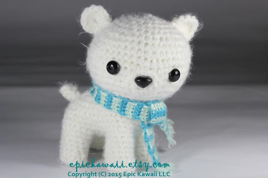 Free Amigurumi Crochet Patterns Fox : Peppermint the Polar Bear Cub Crochet Amigurumi by ...