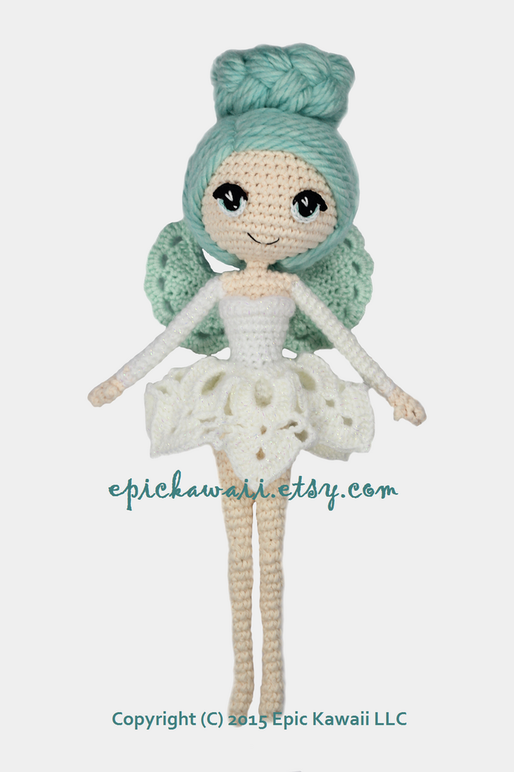 Luciella the Winter Fairy Crochet Amigurumi Doll by ...