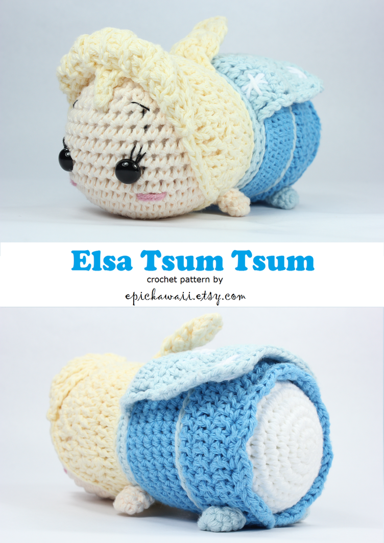 Crochet Elsa Doll Pattern : Elsa Tsum Tsum Crochet Amigurumi Dolls by Npantz22 on ...