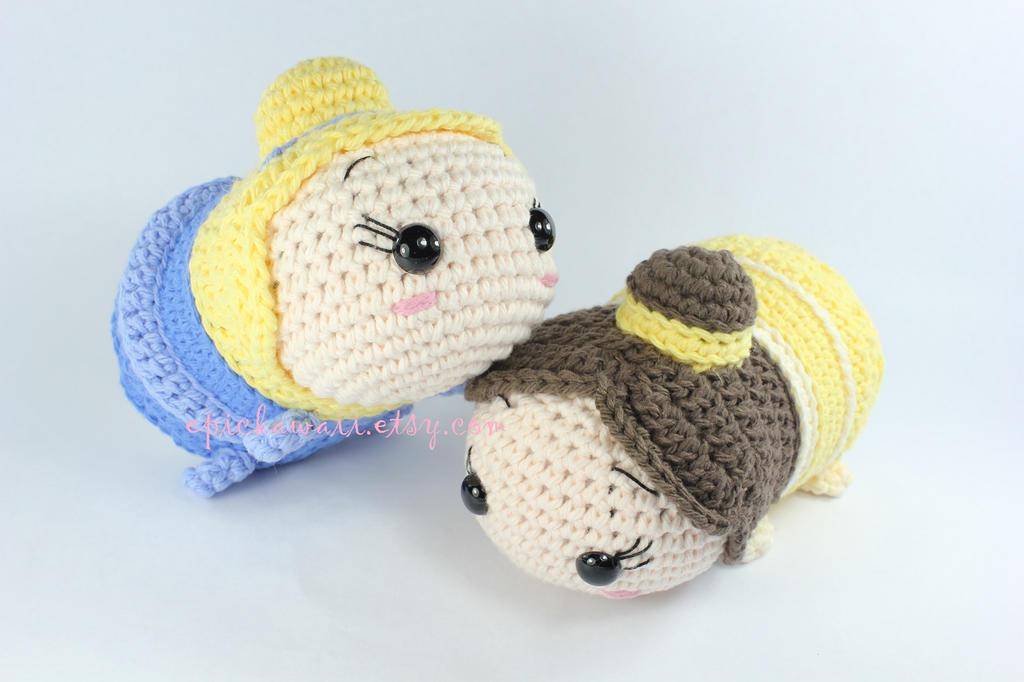 Tsum Tsum Disney Amigurumi : Cinderella and Belle Tsum Tsum Crochet Amigurumi by ...
