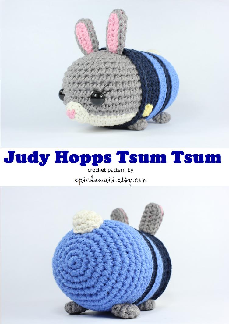 Judy Hopps Zootopia Tsum Crochet Doll by Npantz22